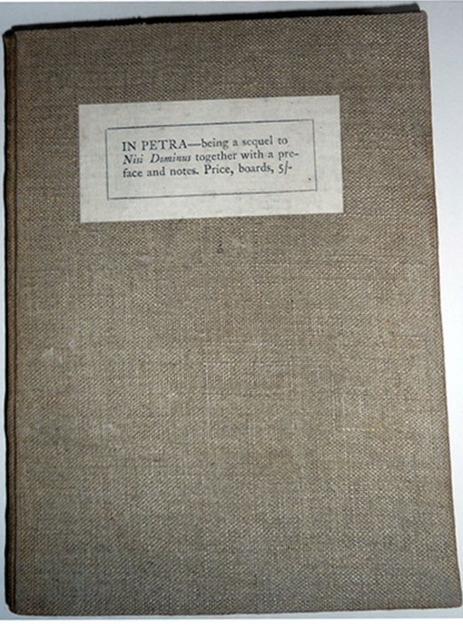 In Petra Being a sequel to `Nisi Dominus,' together with a preface and notes. Eric Gill, Hilary Pepler.