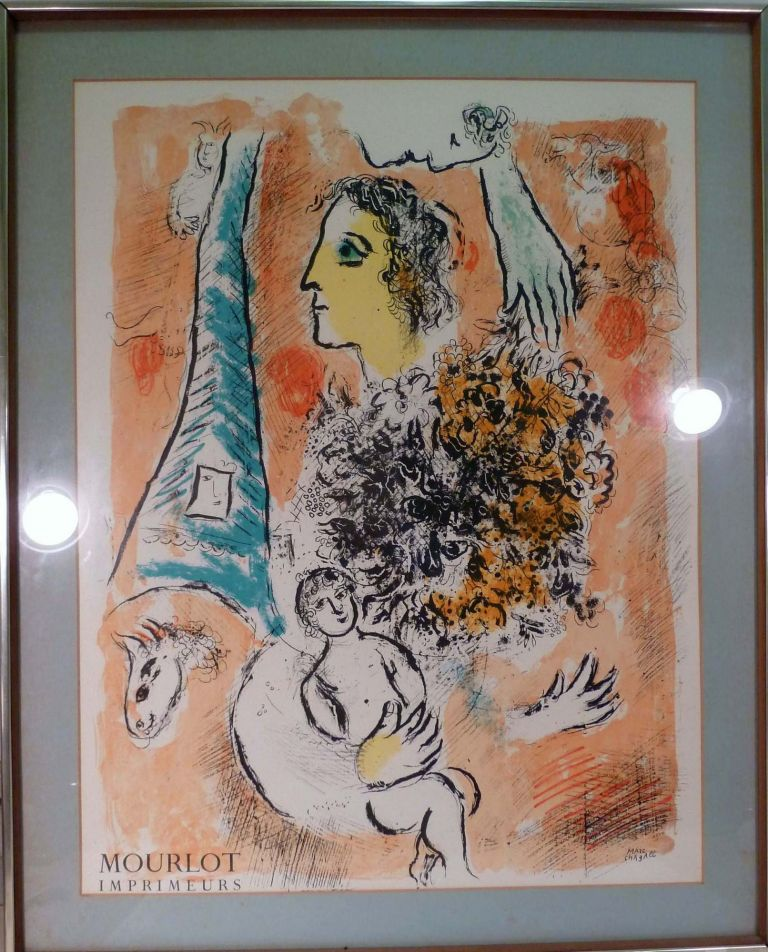 Color Lithograph. Marc Chagall.