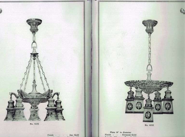Illuminating Fixtures of Etruscan Bronze. NY. The William Gray Company Utica.