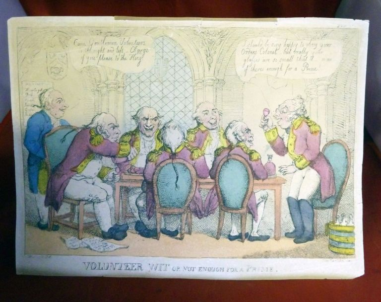 Volunteer Wit Or Not Enough For A Prime. George Moutard Woodward, Thomas Rowlandson.
