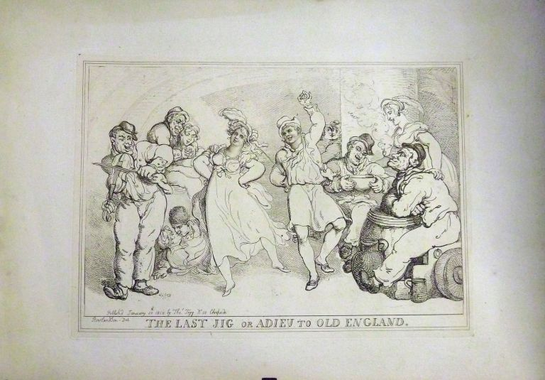 The Last Jig or Adieu To Old England. Thomas Rowlandson.