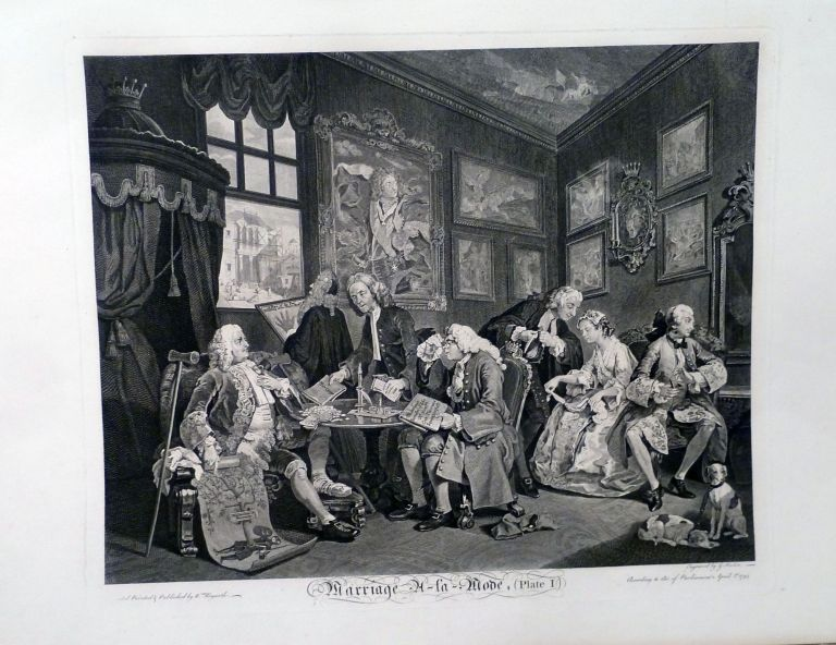 Marriage A La Mode. William Hogarth.