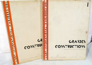 Grand Constructions; Vols. 1-2 of L'Art International d'Aujourd'hui. Robert Mallet-Stevens.