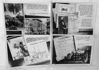 ARCHIVE] Russian Communist Propaganda Photographs. Carl Marx, Friedrich Engels