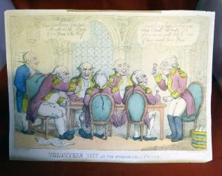 Volunteer Wit Or Not Enough For A Prime. George Moutard Woodward, Thomas Rowlandson