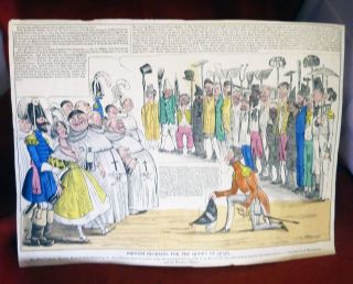 British Recruits For The Queen Of Spain. PRINT