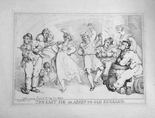 The Last Jig or Adieu To Old England. Thomas Rowlandson
