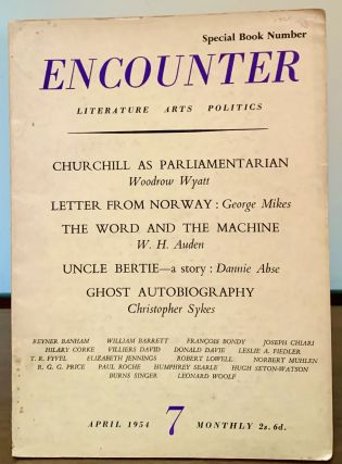 Encounter April 1954. W. H. Auden, Guest Editorial