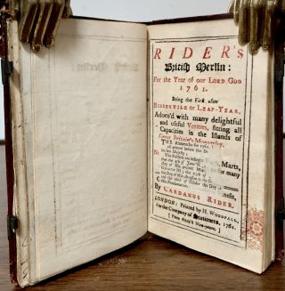 Rider's British Merlin: For the Year of our Lord God 1761; Being the First after Bissextile Or Leap-Year
